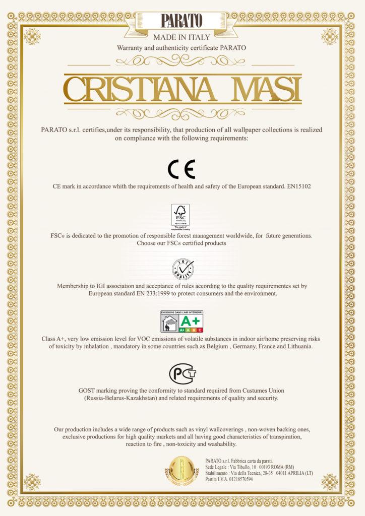 certificato dorato